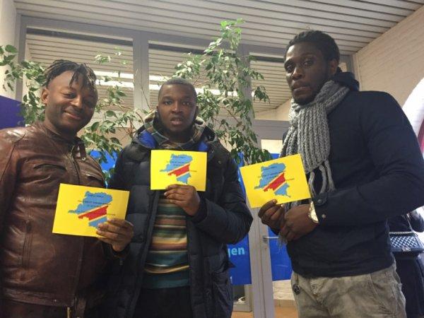 Bruxelles la Diaspora paralyse l'entrée du Cabinet de Didier Reynders pour le Carton Jaune à Kabila