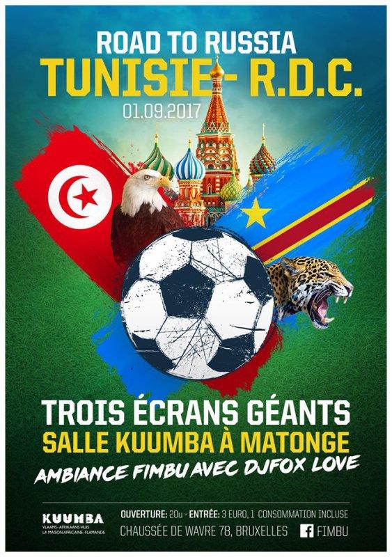 Rendez-vous ce vendredi soir au Kuumba pour soutenir nos Léopards