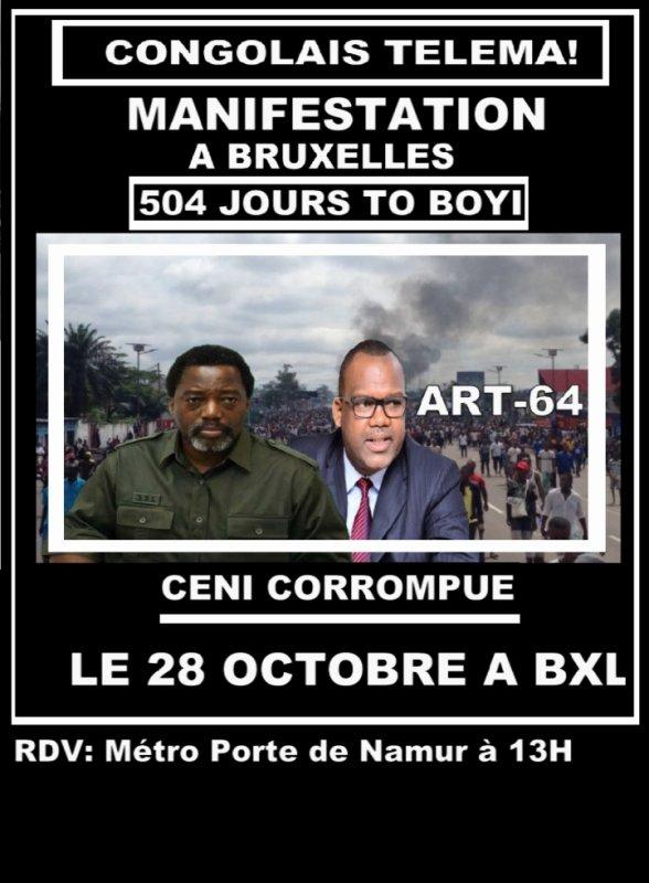 Grande Manifestation ce samedi 28 octobre à Bruxelles