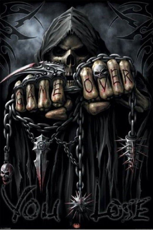 """""""game over"""" """"le jeu est terminé""""!!! la Mort a gagné..."""