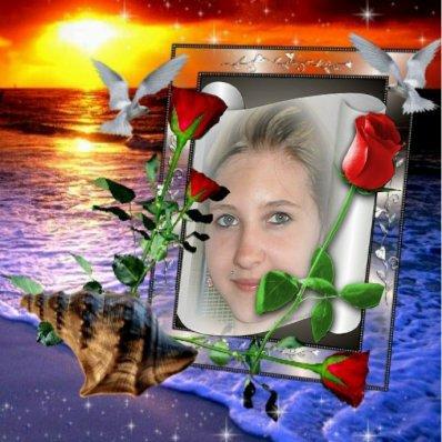 Merci à mon ami René (abbatube ) pour ce magnifique montage de mon ange