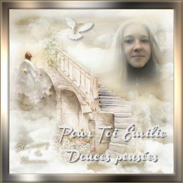 Merci à mon amie Lise pour ce joli montage de mon ange...