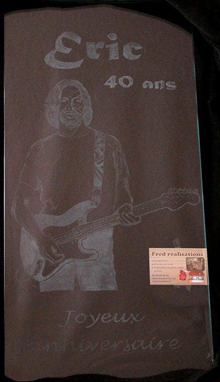 Plaque en verre E. Clapton