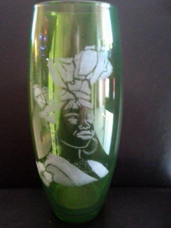 vase thème Guadeloupeen