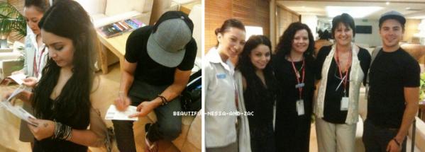 Zanessa a été vu a l'aéroport de Sydney pour retourner a Los Angeles posant avec des fans
