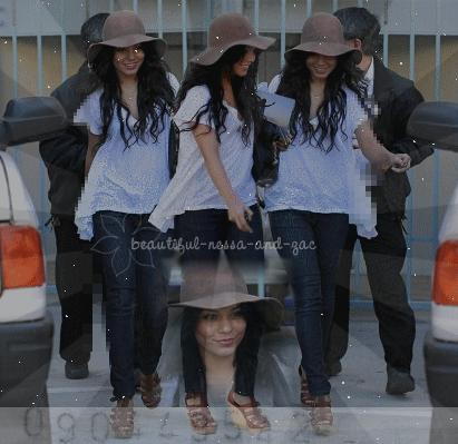 Le 12/03 Vanessa sortant d'un rendez-vous d'affaire dans Santa Monica