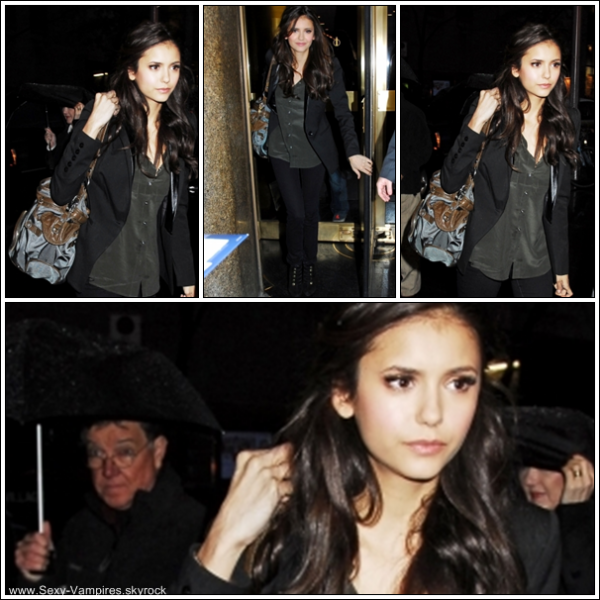 ".  07 / 11 / 2010 ___ Nina arrive au studio de "" The Late Night With Jimmy Fallon "" .  C'est un gros TOP pour Nina ! J'adore , c'est tres simple mais totalement classe ! ."
