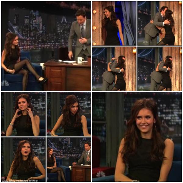 """.  07 / 11 / 2010 : ___ Nina au """" Last Night with Jimmy Fallon """" .  La belle Nina est allée au"""" Last Night with Jimmy Fallon """" où elle a rencontré les createurs de la Xbox et a meme jouer avec !   ."""