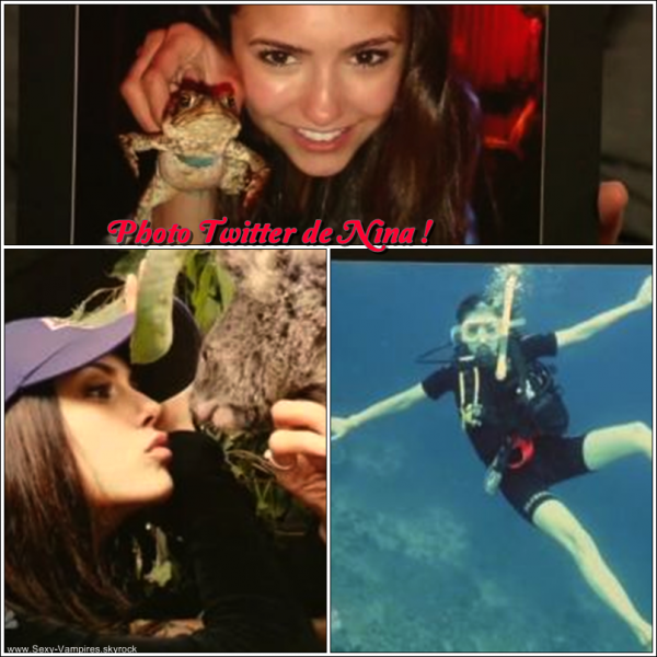 ".  07 / 11 / 2010 ___ Photos personnelles de Nina devoilés lors du "" Late Night with Jimmy Fallon "" ."