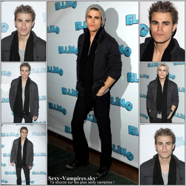 ".  27 / 11 / 2010 ___ Paul au ""Elling"" Broadway Opening Night.  ( + ) Une photo de Ian pour Collin Stark ."