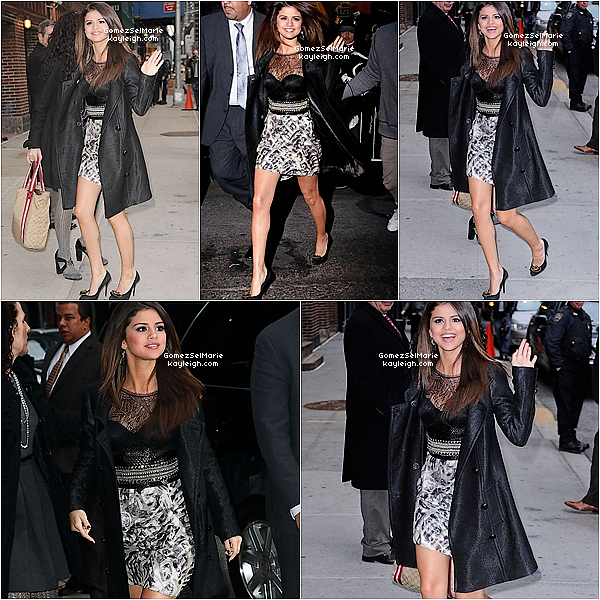 14/03/11  Selena se rendant (1er montage) et sortant (2ème montage) au Late Show with David Letterman à New York.