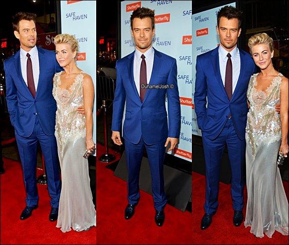 """. 5/02/2013 - Josh et sa co-star sans oublier Fergie sont allés à la première de """"Safe Haven"""" à Hollywood puis à l'after party."""