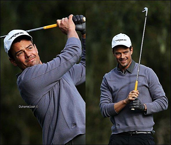 . 7/02/2013 - Josh joue au golf à Pebble Beach, Californie.