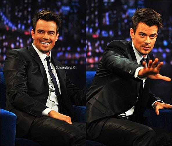 . 12/02/2013 - Josh était au show de Jimmy Fallon à New York.