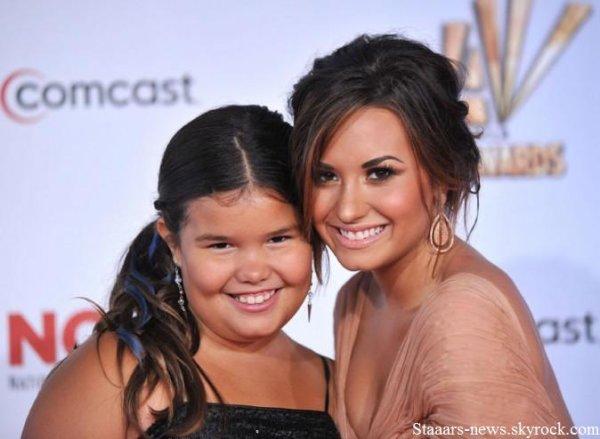 """Demi Lovato qui était aux Alma Awards 2011, a gagné dans la catégorie """"Meilleure actrice"""" pour """"Sonny """" ! Je la trouve magnifique & toi ? : D"""