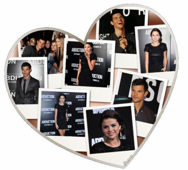 """15.09.2011 ; Selena Gomez était présente à l'avant-première du film """"Abduction """" (Identité Secrète) de Taylor Lautner"""
