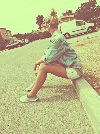 Une photo de moi qui date de ces derniers vacances de juillet ♥