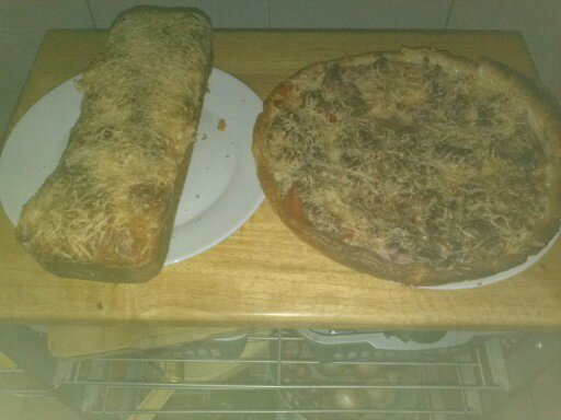 Verrines divers et cake au maroilles et pizza maison