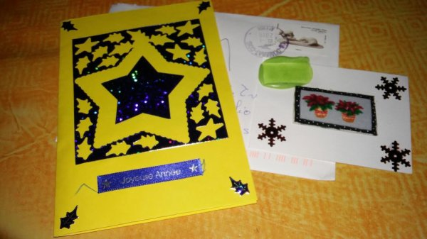 ATC et une jolie carte de v½ux reçu