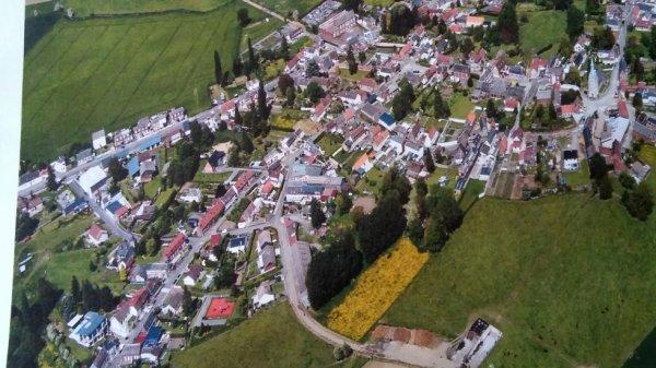 Vue aérienne de mon village