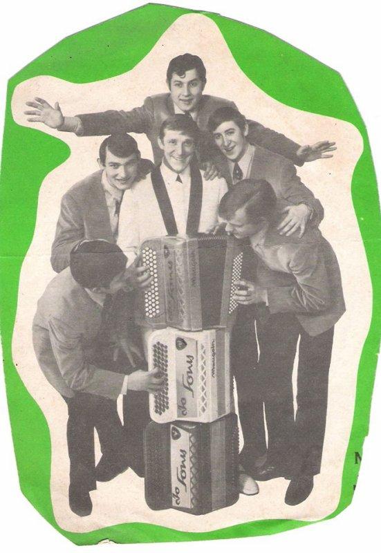 Claener en bas du coté Gauche . Jean-Paul Petit .Bourtargues en Haut  batteur  et Marcel Vaux et enfin le roi du Cirque JO SON