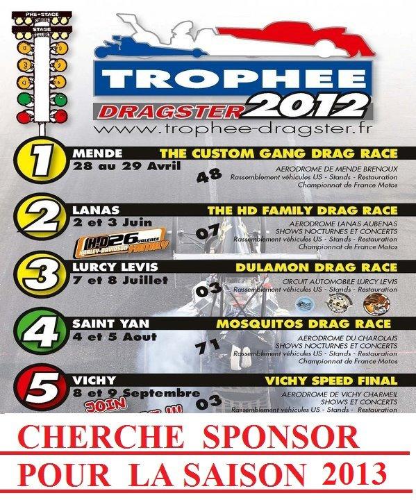 CHERCHE SPONSOR POUR LE  TROPHEE DRAGSTER 2012