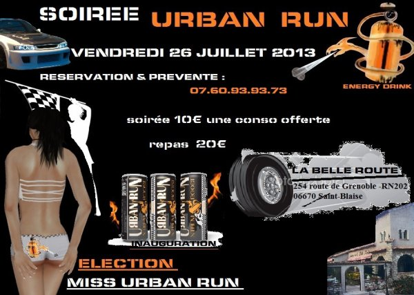 GROSSE SOIREE URBAN RUN 26 JUILLET 13