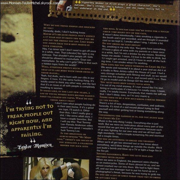 .10/2010, voici les scans de Taylor pour le mag Revolver edition de Novembre, je la trouve magnifique !.