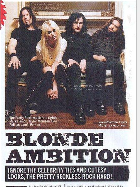 .10/2010, Un article elogieux sur les Pretty Reckless a été publié dans le magazine Metal Hammer..