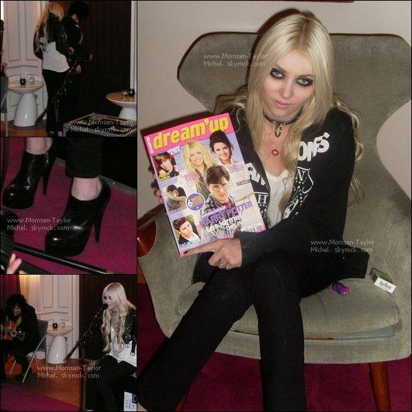 .Le 06/12/2010, les Pretty Reckless étaient en concert privé à Paris dans le 8eme arrondissement..