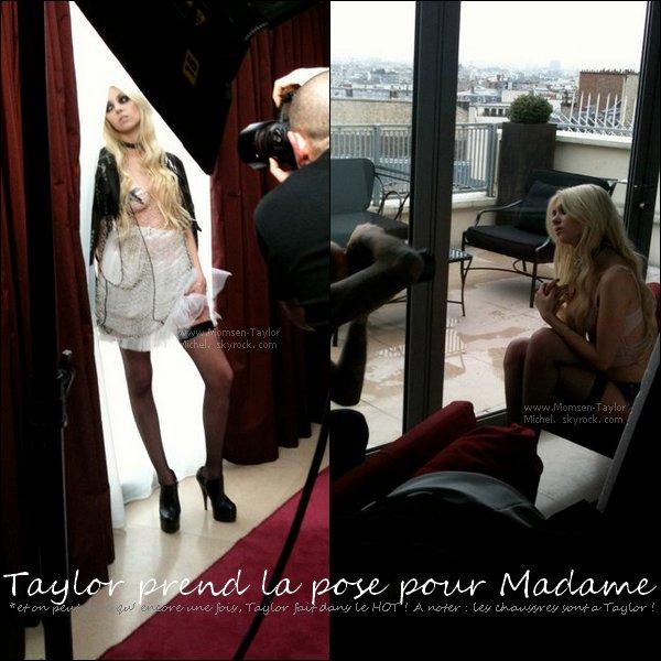 .12/2010, Taylor pose pour le magasine Francais Madame, voici les photos des Backstages! Votre avis ?.