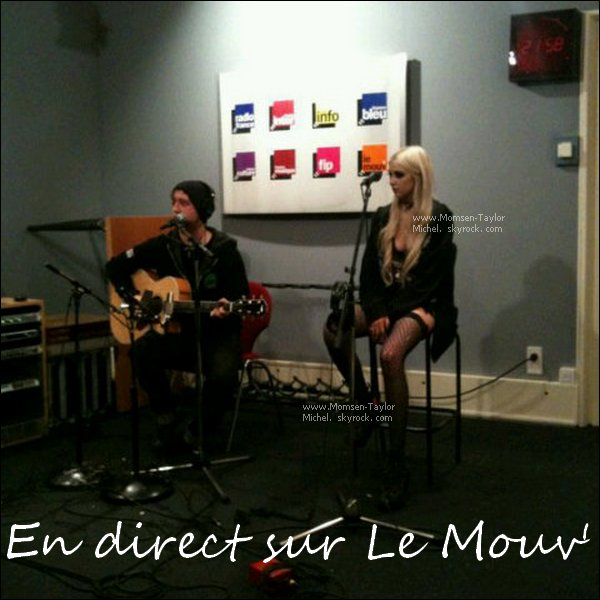 .Le 07/12/2010, Taylor et Ben étaient en direct sur la radio Le Mouv' en France. Wahou !.