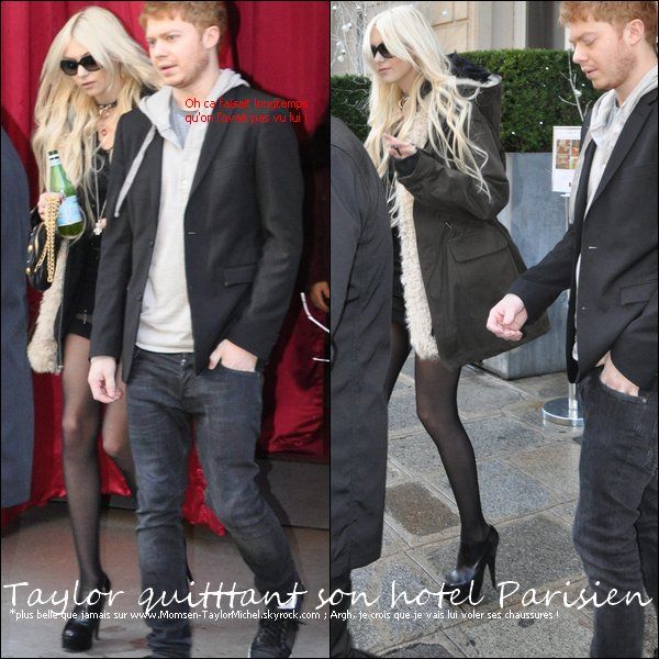 .Le 09/12/2010, Taylor quittait son hotel Parisienpuis arrivait à la Maroquinerie pour son concert Français.