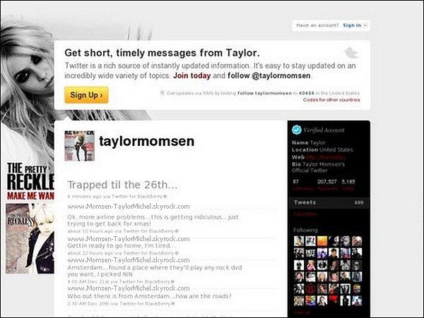 .Taylor passera les fetes de noël ... A l'aéroport !_-__(merci papa noël)Et oui, la belle de passage à Amsterdam a vu son vol annulè, et ne pourra partir que le 26/12, VDM!.