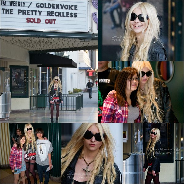 .Le 11/02/2011, Taylor, avant sa performance, arrivait au theatre El Rey à Los Angeles. Superbes photos !.