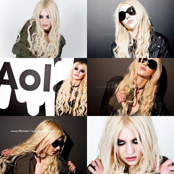 .04/2011, Taylor a donné un photoshoot et une interview à Aol Music, j'adore (sauf les lunnettes)..