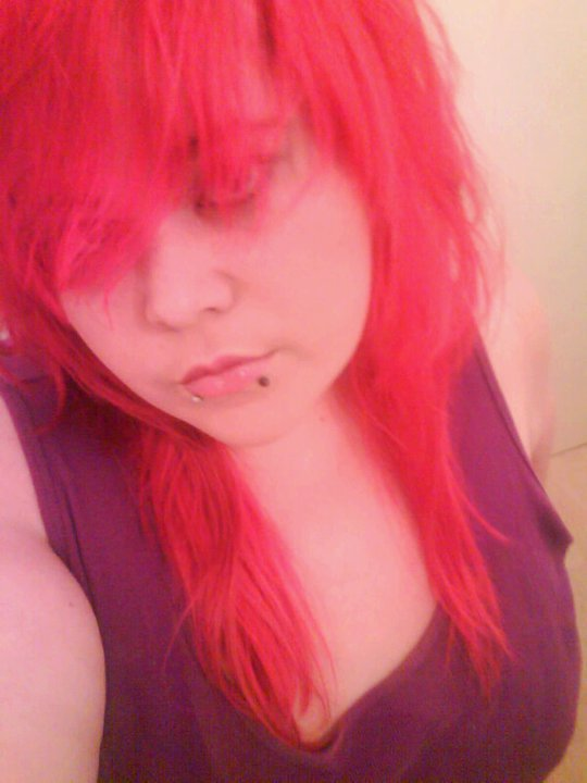 First Time I Dye'd My hair this bright XD