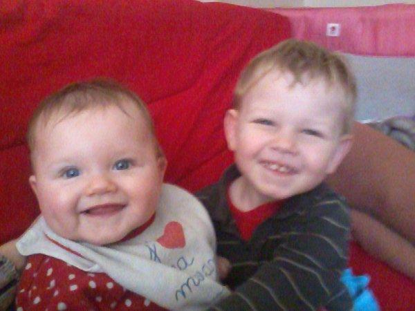 ma fille et mon fils je vous aime ms bebe