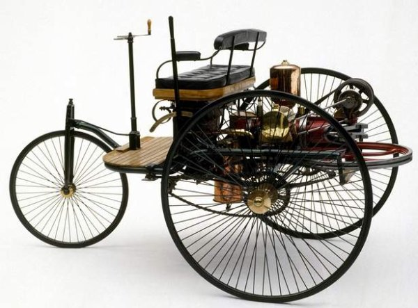 The first Vehicle powered by a gas engine