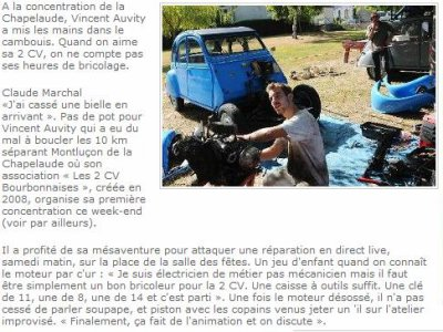 """Article de """"La Montagne"""""""