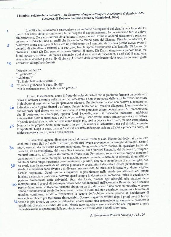 Modèle Texte Italien spécialité ( Saviano )