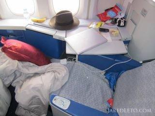 Jared voyage plutôt confortablement, non ?