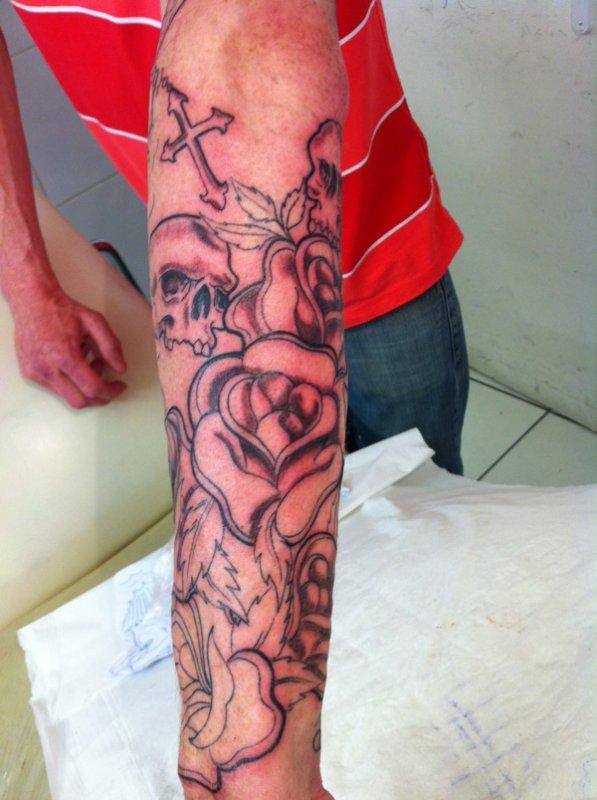 Bras Ange Et Demon Le Bien Et Le Mal En Cours Tattoo