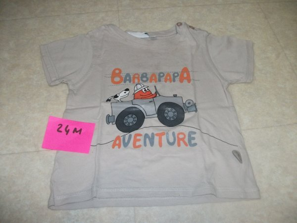 Tee shirt BARBAPAPA - taille 24 mois - 3 euros