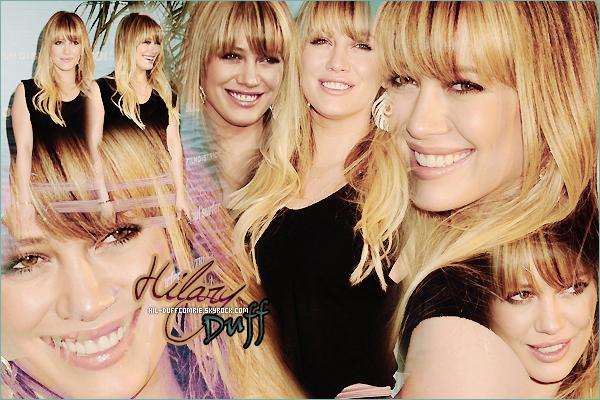 ----    Hil-DuffComrie : Ta toute nouvelle source pour te faire découvrir la vie trépidante de la miss Hilary Duff !   ----