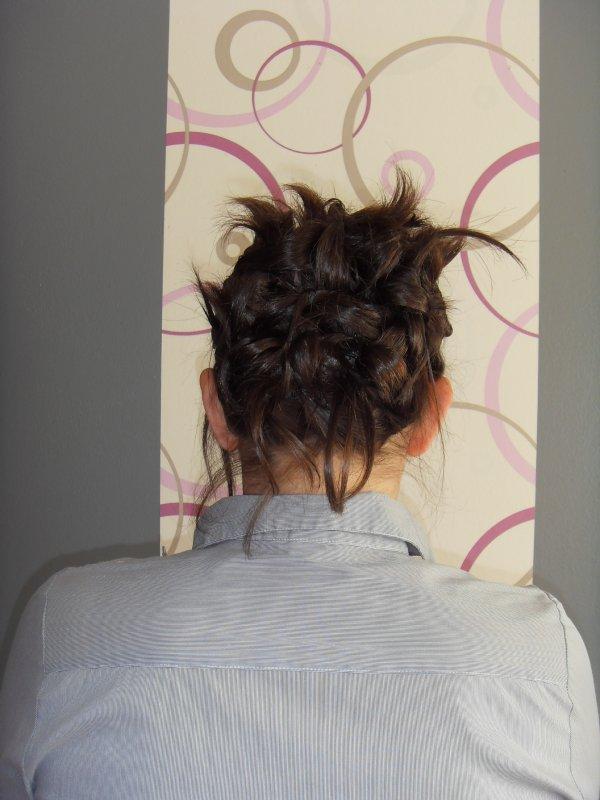 chignon  sur cheveux carré