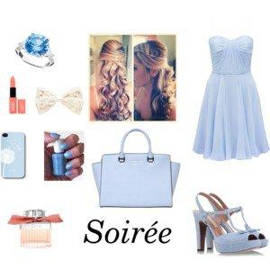 Tenue de soirée bleu #Wonderland