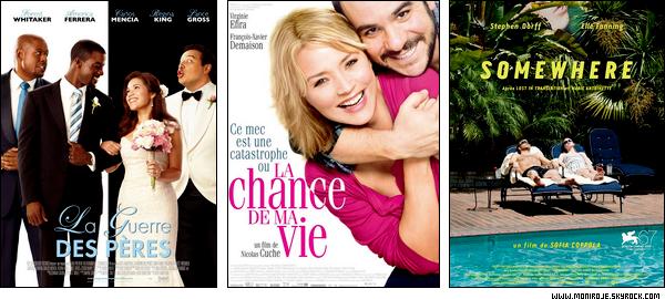 Sorties cinéma de la semaine du 05 Janvier 2011 + Box Office de la semaine du 29 Décembre 2010.