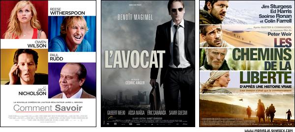 Sorties cinéma de la semaine du 26 Janvier 2011 + Box Office de la semaine du 19 Janvier 2011.