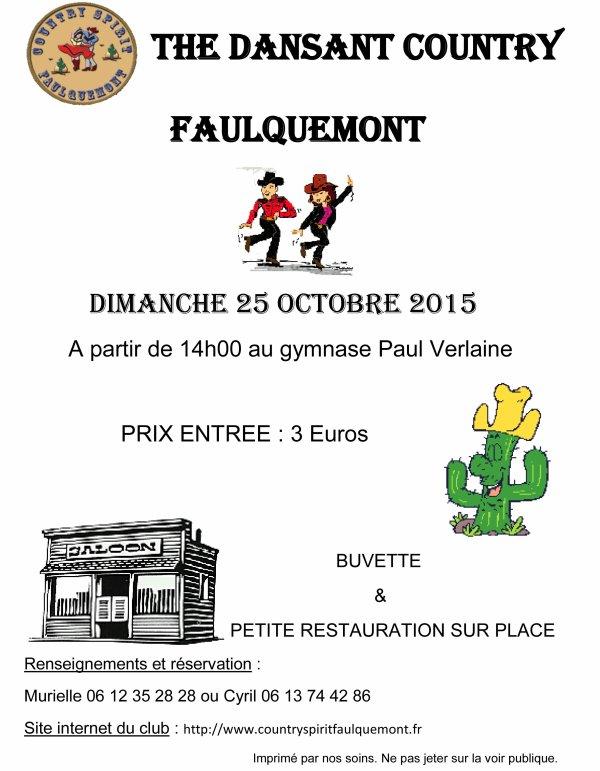 THE DANSANT / FAULQUEMONT DIMANCHE 25 OCTOBRE 2015